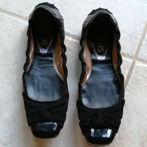 TOD'S Patent leather and suede ballet flats 36.5